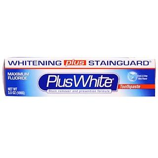 Plus White, PlusWhite, Whitening Plus Stainguard Toothpaste, Cool & Crisp Mint Flavor, 3.5 oz (100 g)
