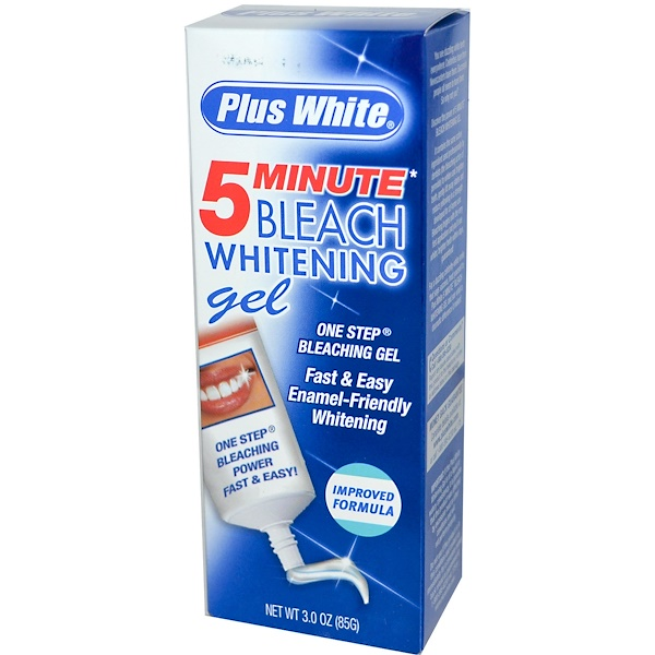 Plus White, 5 Minute Bleach Whitening Gel, 3.0 oz (85 g) (Discontinued Item)