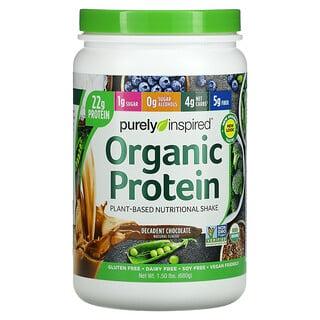 Purely Inspired, органический протеин, питательный шейк на растительной основе, восхитительный шоколад, 680 г (1,5 фунта)