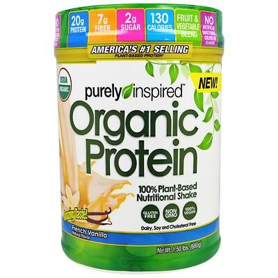 Купить Purely Inspired Органический белок, Питательный Коктейль на 100%-ной Растительной Основе, Французская Ваниль, 1, 50 фунта (680 г)