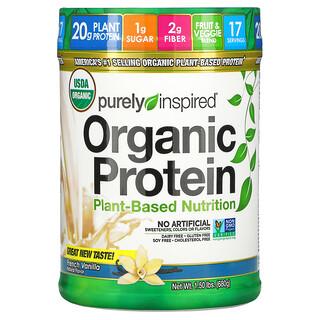 Purely Inspired, органический протеин, продукт на растительной основе, французская ваниль, 680 г (1,50 фунта)