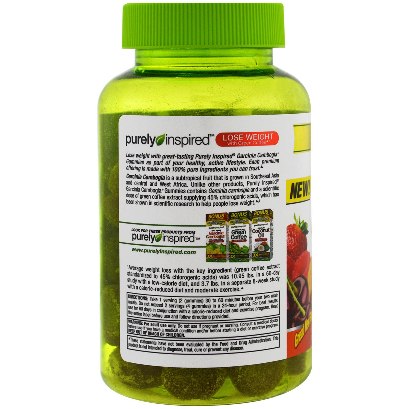 Purely Inspired Garcinia Cambogia Gummies Fruit Burst 50