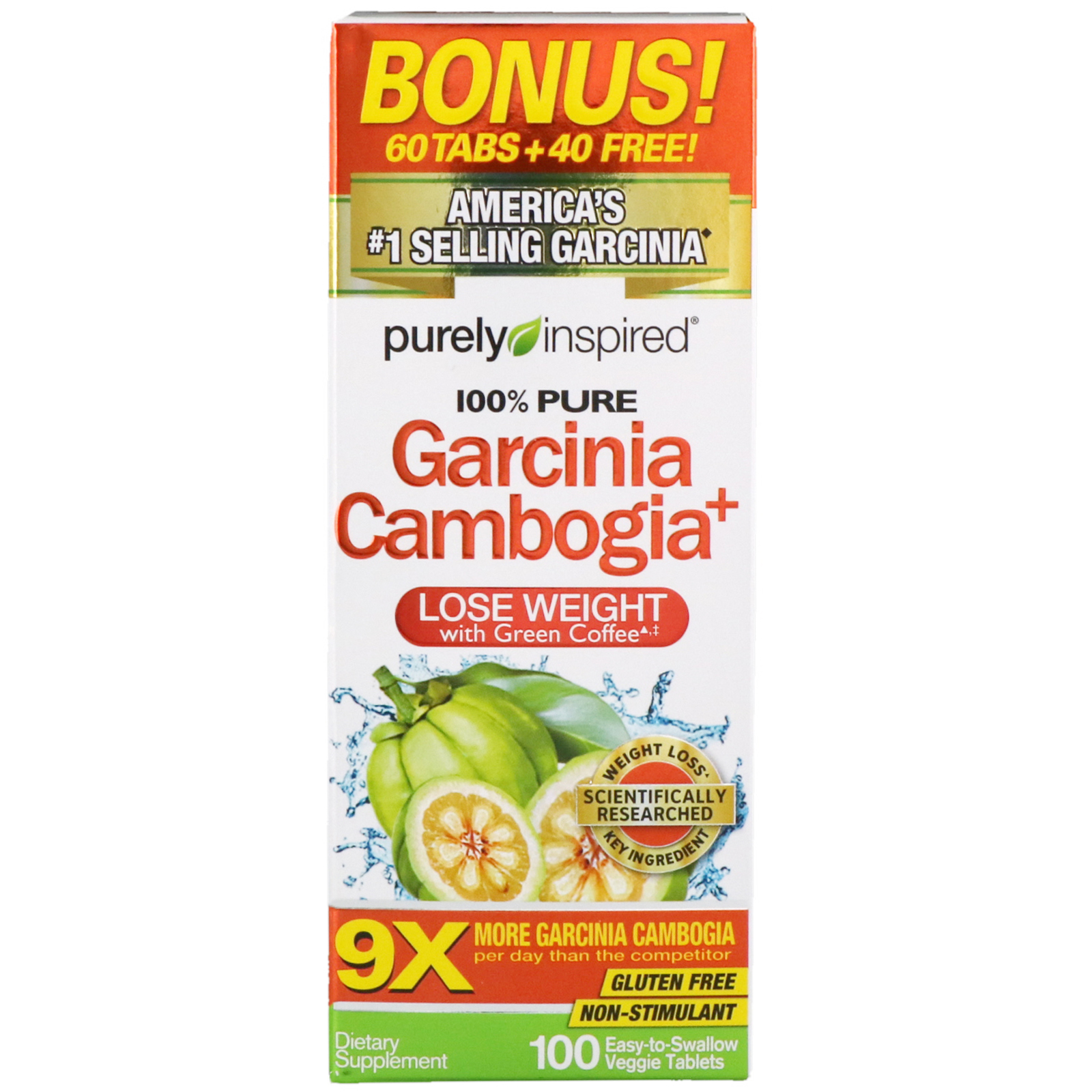 Purely Inspired Garcinia Cambogia 100 Easy To Swallow