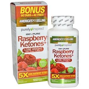 Пурели Инспиред, Raspberry Ketones+, 600 mg, 100 Tablets отзывы