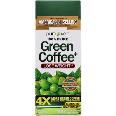 Купить Green Coffee+, 100 Easy-to-Swallow Veggie Tablets