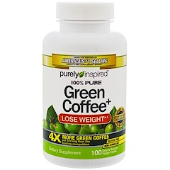 Purely Inspired, Green Coffee+, 100 Veggie Tablets