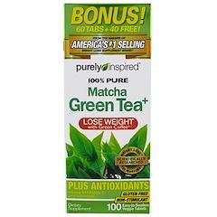 Purely Inspired, بيور ماتشا الشاي الأخضر، 100 قرص نباتي سهل الابتلاع
