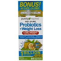 Пробиотик + Похудение, 84 легко глотаемых растительных капсулы - фото