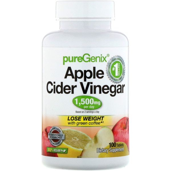 PureGenix, Apple Cider Vinegar, 100 Tablets
