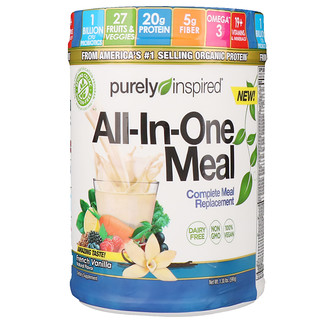 Purely Inspired, All-In-One Meal, Complete Meal Replacement, French Vanilla, 1.30 lbs (590 g)