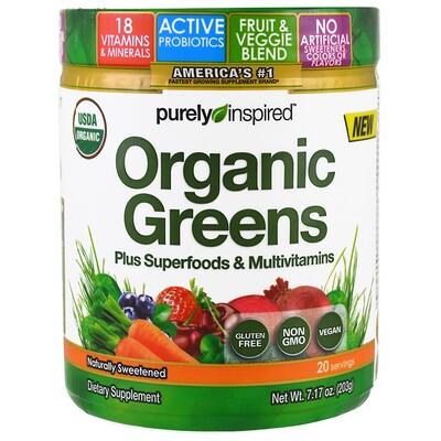 Purely Inspired Органическая зелень, натуральный вкус, 203 г (7,17 унций)