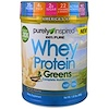 Purely Inspired, 100% Pure Whey Protein & Greens, French Vanilla, 1.5 lbs (680 g) (Discontinued Item)