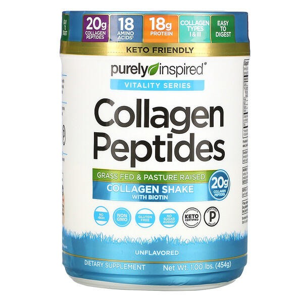 Collagen Peptides, Unflavored, 1.00 lb (454 g)