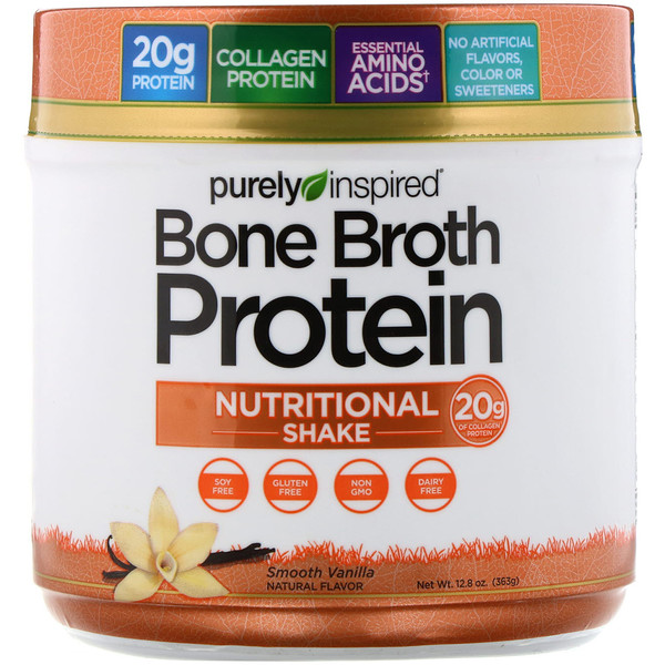 Bone Broth Protein Nutritional Shake, Smooth Vanilla, 12.8 oz (363 g)