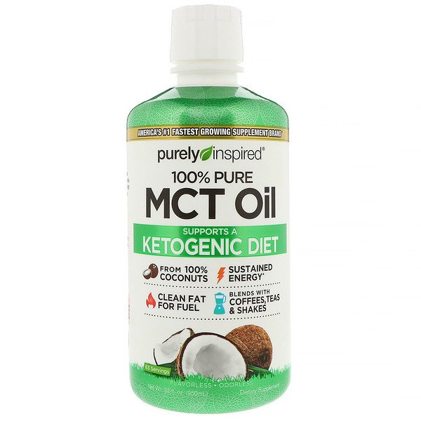 Purely Inspired, 100% Pure MCT Oil, 32 fl oz (950 ml) (Discontinued Item)