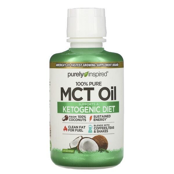 100% Pure MCT Oil, 16 fl oz (475 ml)