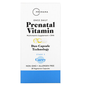 Premama, Once Daily Prenatal Vitamin, Stage 3 Carry, 28 Vegetarian Capsules