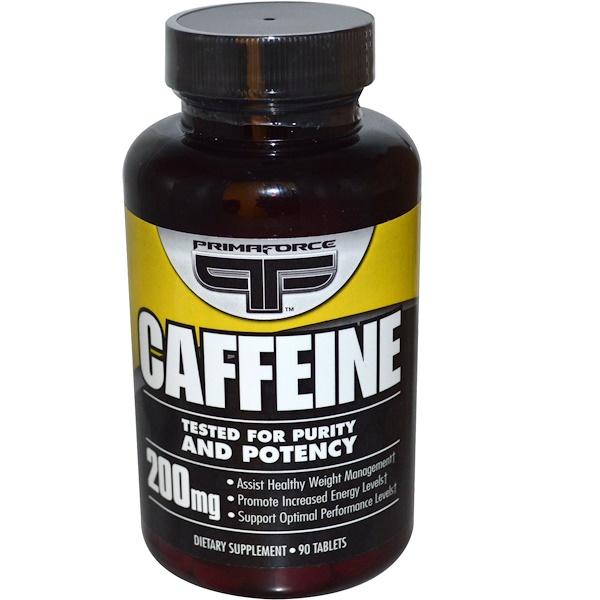 Primaforce, Кофеин, 200 мг, 90 таблеток (Discontinued Item)