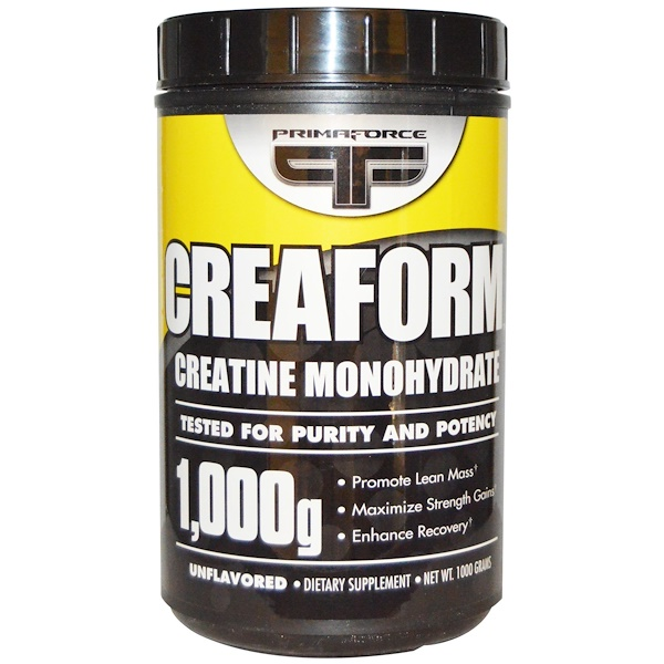 Primaforce, Creaform, Creatine Monohydrate, Unflavored, Powder, 1000 g (Discontinued Item)