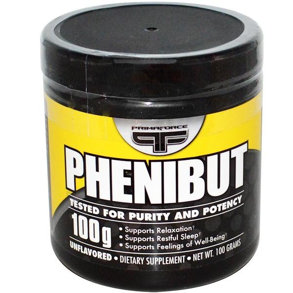 Primaforce, Phenibut, Unflavored, 100 g (Discontinued Item)