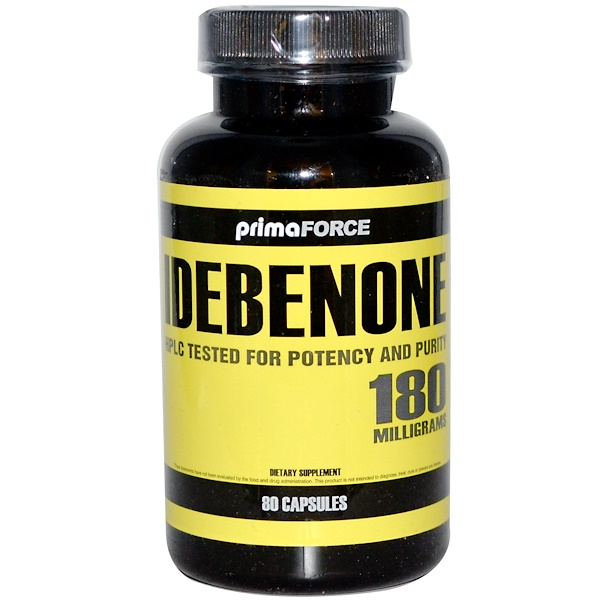 Primaforce, Idebenone, 180 mg, 80 Capsules (Discontinued Item)