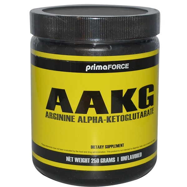 Primaforce, AAKG, Arginine Alpha-Ketoglutarate, Unflavored, 250 g (Discontinued Item)