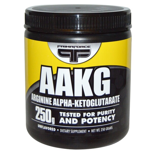 Primaforce, AAKG, Arginine Alpha-Ketoglutarate, Unflavored, 250 גרם