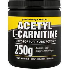 Primaforce, Ацетил-L-карнитин, Без ароматизаторов, 250 г