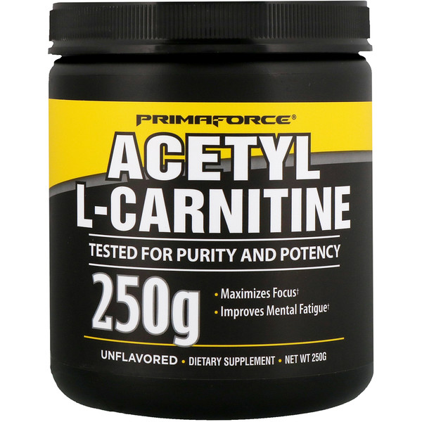Primaforce, Acetyl-L-Carnitine, Unflavored, 250 g (Discontinued Item)