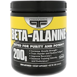 Primaforce, Beta-Alanina, Sin sabor, 200 g