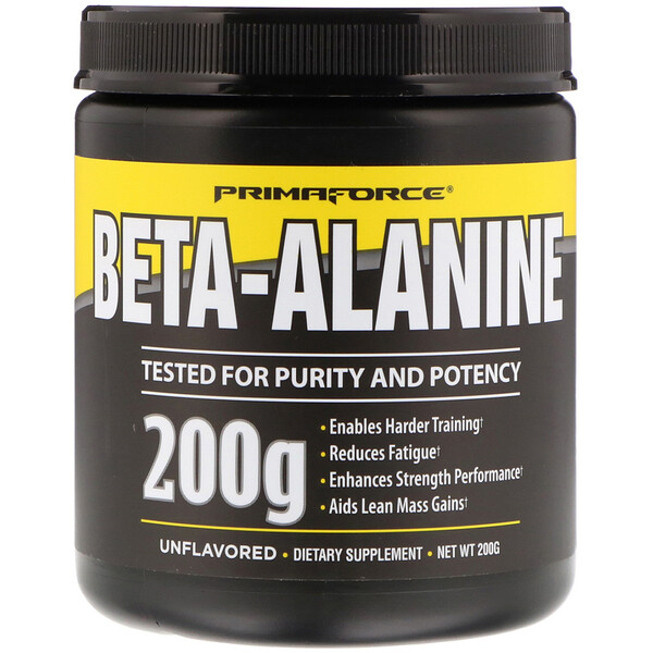 Primaforce, Beta-Alanine, Unflavored, 200 g