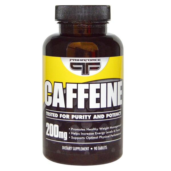 Primaforce, Cafeína, 200 mg, 90 tabletas