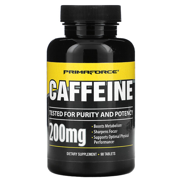 Cafeína, 200 mg, 90 tabletas