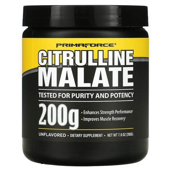 Citrulline Malate, Unflavored, 200 g, 7.0 oz (200 g)