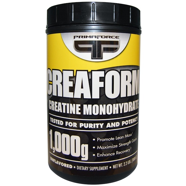 Primaforce, Creafrom, Creatine Monohydrate, Unflavored, Powder, 2.2 lbs (1000 g) (Discontinued Item)