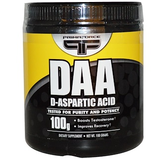 Primaforce, DAA, D-Aspartic Acid, 100 g