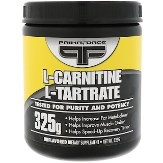 Primaforce, L-Carnitine, L-Tartrate, Unflavored, 325 g