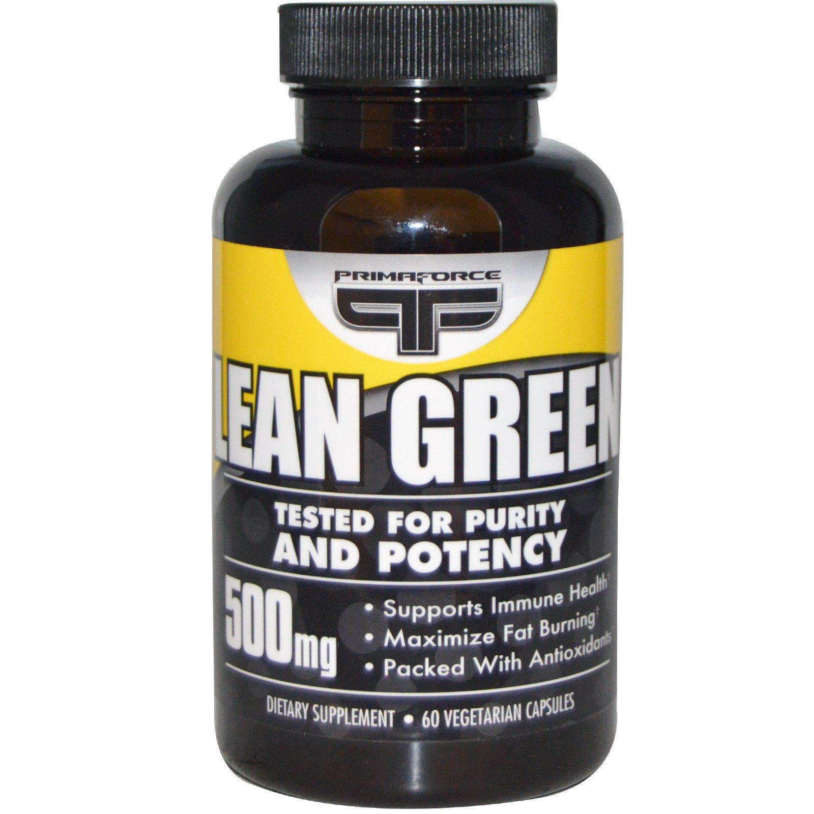 Primaforce, Lean Green, 500 мг, 60 растительных капсул