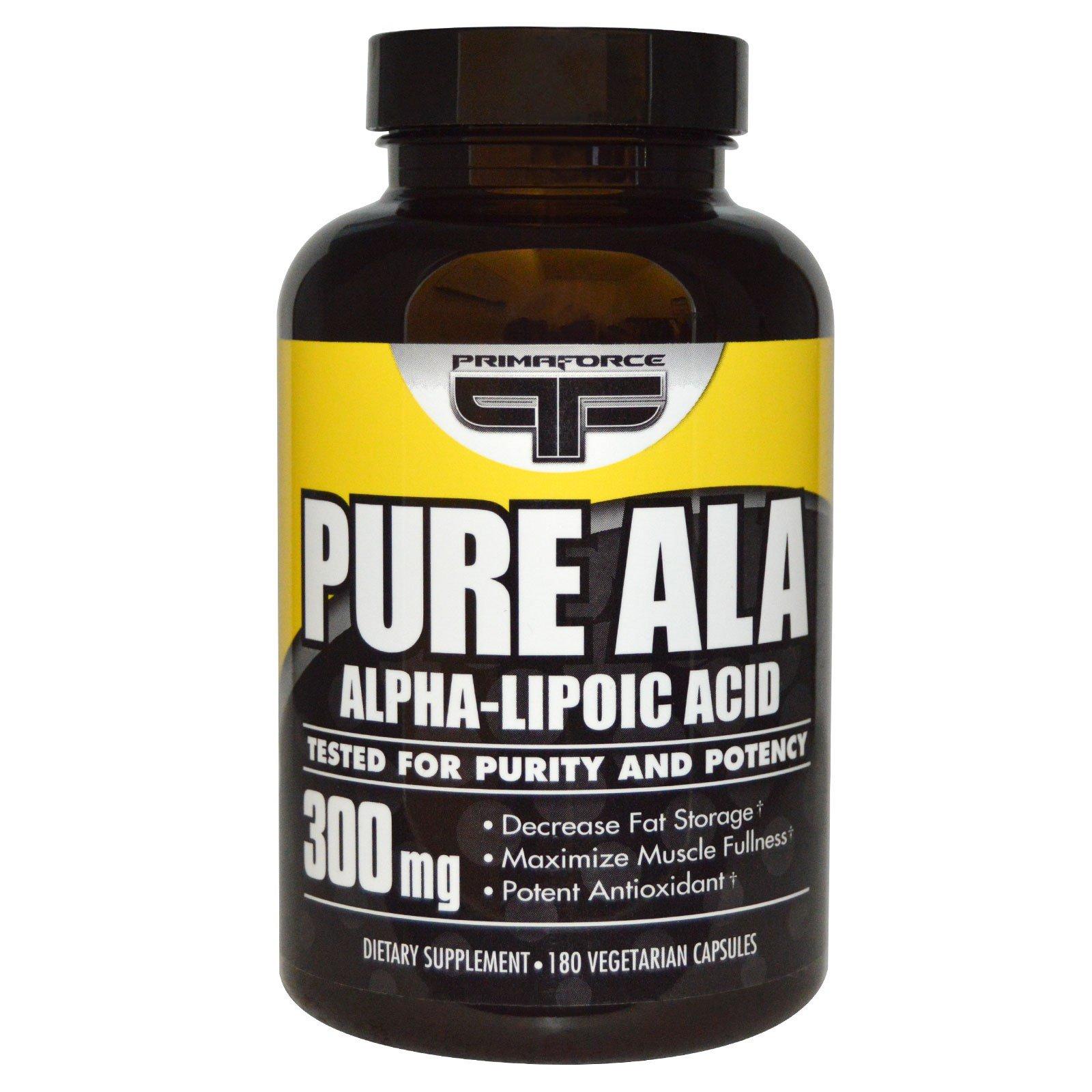 Primaforce, Натуральная альфа-липоевая кислота, 300 мг, 180 растительных капсул