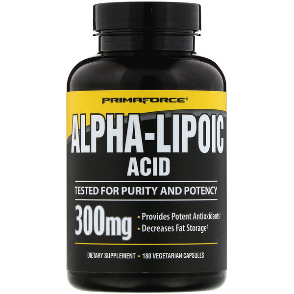 Primaforce, Alpha-Lipoic Acid, 300 mg, 180 Vegetarian Capsules (Discontinued Item)