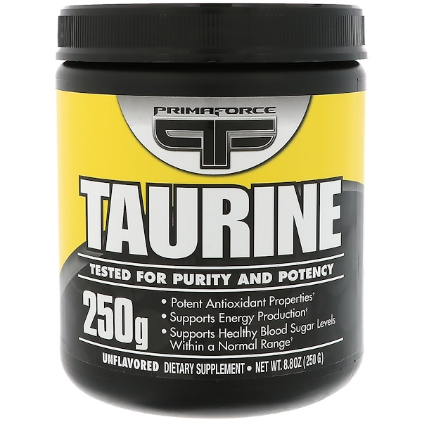 Primaforce, Taurine,8、8 盎司(250克)