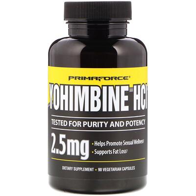 Yohimbine HCl, 2,5 мг, 90 вегетарианских капсул