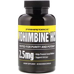 Primaforce, Yohimbine HCl ، 2.5 ملغ، 90 كبسولة نباتية
