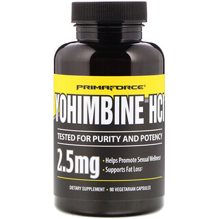 Primaforce, Yohimbine HCl ، 2.5 ملغ، 90 كبسولة نباتية