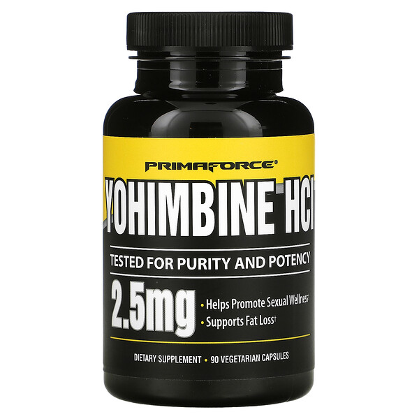 Yohimbine HCl, 2.5 mg, 90 Vegetarian Capsules
