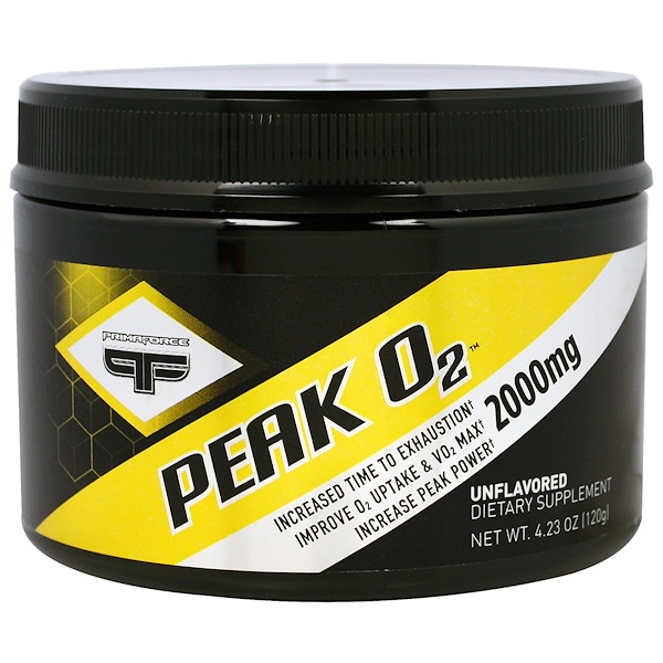 Primaforce, Peak 02, Unflavored, 2000 mg, 4.23 oz (120 g) (Discontinued Item)