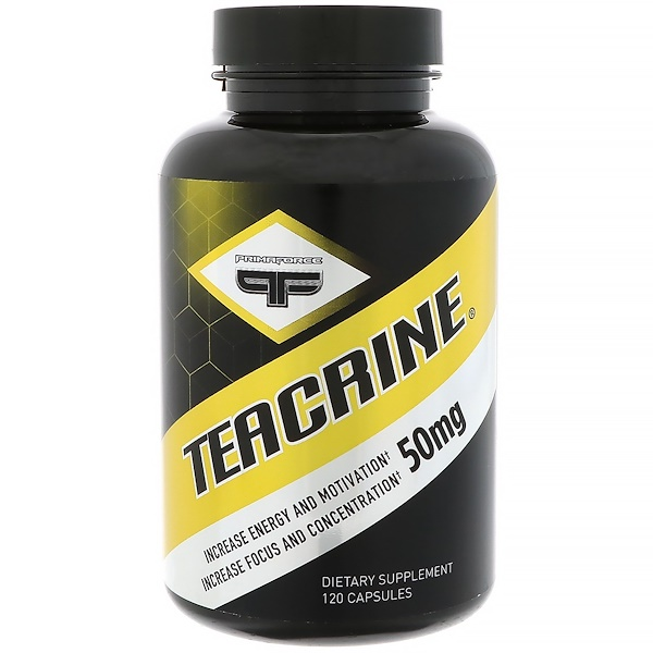 Primaforce, Teacrine, 50 mg, 120 Capsules (Discontinued Item)