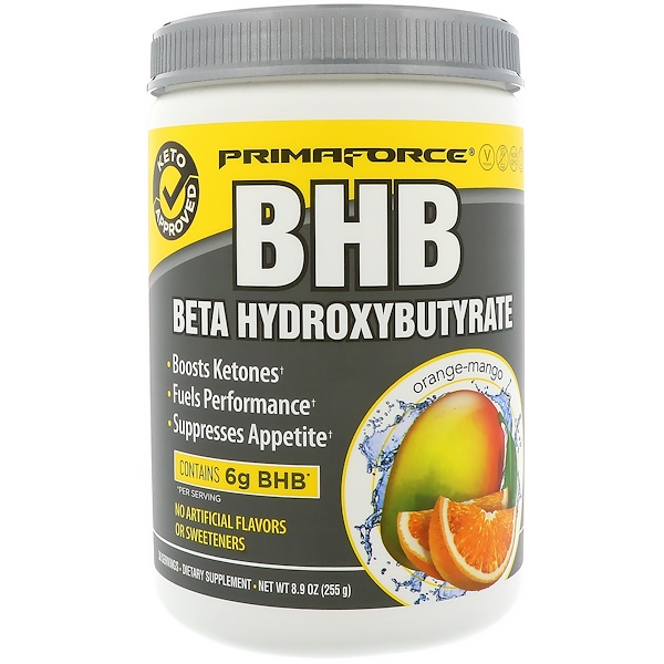 Primaforce, BHB، بيتا هيدروكسي بوتيرات، برتقال ومانجو، 8.9 أوقية (255 غرام)