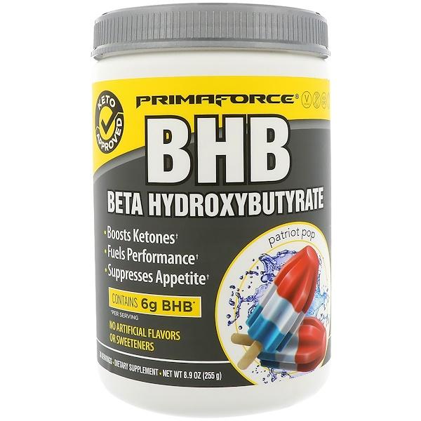 Primaforce, BHB, Beta Hydroxybutyrate, Patriot Pop, 8.9 oz (255 g) (Discontinued Item)