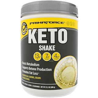Primaforce, Keto-Shake, Vanillegeschmack, 21,2 oz (600 g)